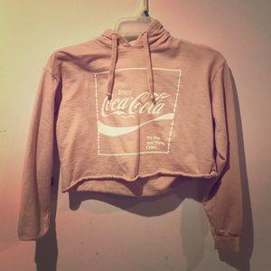 Coca-Cola crop top hoodie
